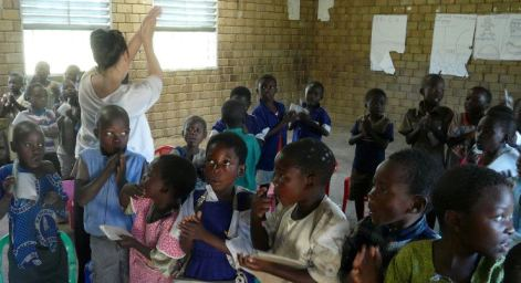 Malawi - Abbie Brown teaching English to a primary class