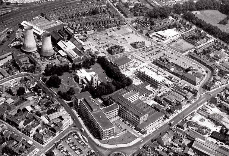 Luton aerial view 1967