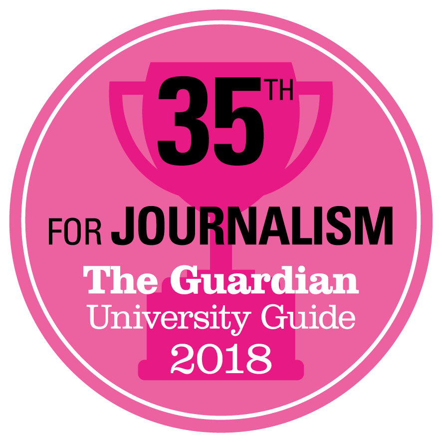 35th for Journalism The Guardian Good University Guide 2018