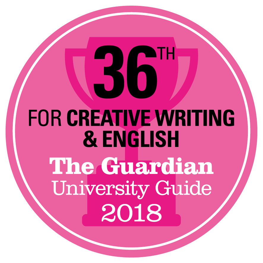 36th for Creative Writing and English in Guardian University Guide 2018