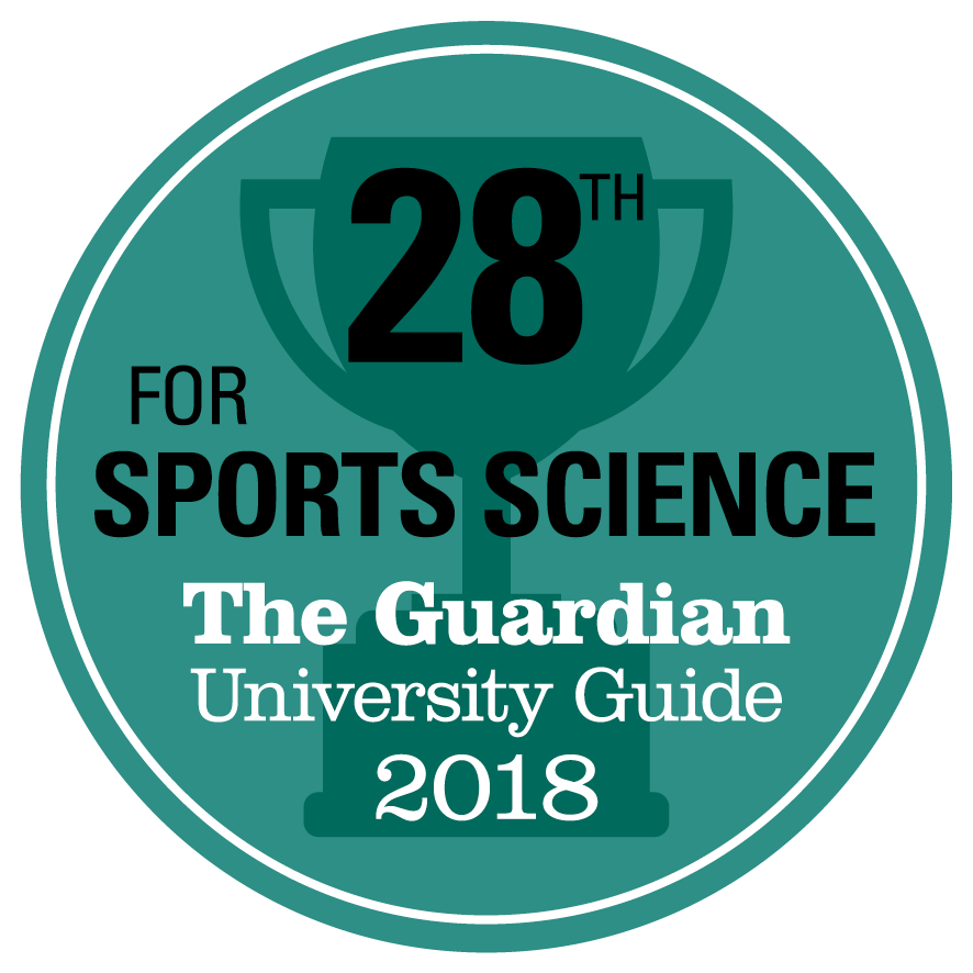28th for Sports Science in the Guardian University Guide 2018