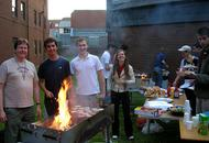 Barbeque outside the Luton campus Treehouse chaplaincy
