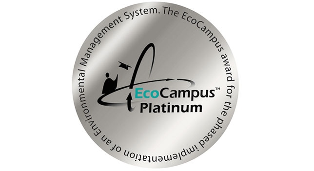 We have a Platinum Eco Campus award