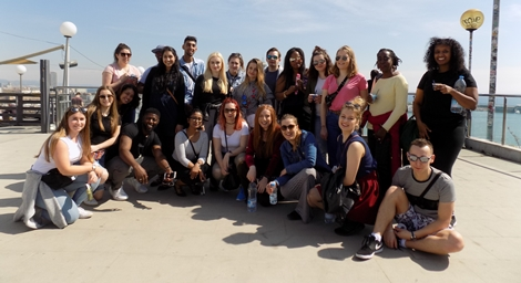 Tourism students an a trip to Barcelona